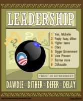 Obama's Leadership Guru by Conservatoons