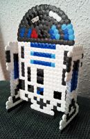 R2D2 from Star Wars 3D bead art by isaletheia