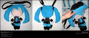 Hachune Miku plush purse by Neon-Juma