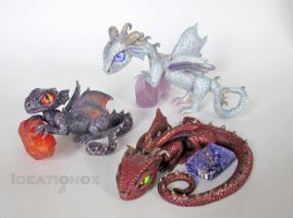 Baby Dragon Sculptures by Ideationox