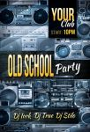 FREE PSD: Old School Party flyer by iorkdesign