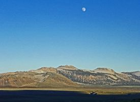 Moonrise Over Mono Craters by Synaptica