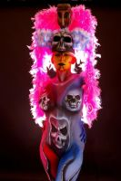 Kat S - Mardi Gras Day of the Dead 007 by marshon