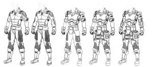 BDU and combat set  sketching by Steel123