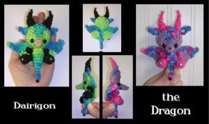Dragon Crochet Pattern Mini by peggytoes