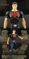 Custom Young Justice Superboy figure by Jin-Saotome