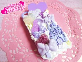 Purple Kawaii Decoden Iphone 4/4S Case by kpossibles