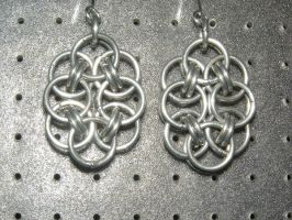 Chainmaille Earring 19 by Des804