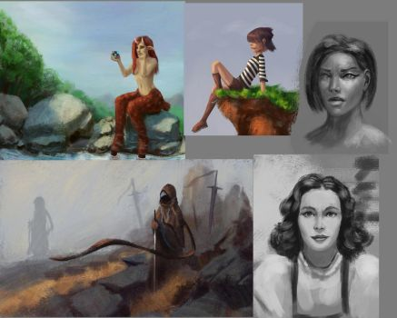 Some sketches and studies by radian1