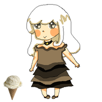 [GIVEAWAY]Ice-cream Girl Adoptable [CLOSED] by FunkyDreamer