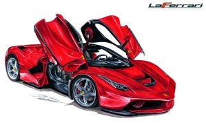 Ferrari LaFerrari Drawing by toyonda
