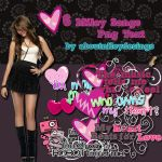6 Miley Songs Textos Png by aboutnileydesings