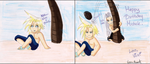 Cloud just wants a quiet vacation by BloodAngel28