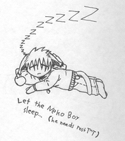 sleepy neko boy by Linkgcn64