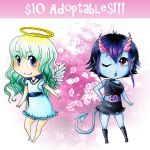 Adoptables - angel and devil by BettyPimm