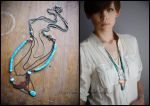 boho falcon necklace by szaranagayama