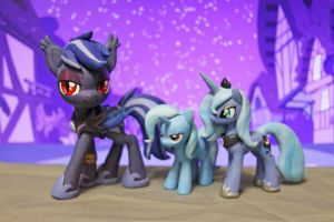 Blue ponies by AplexPony