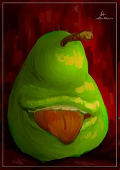 The Nom-ing Pear of Salamanca by jubillealfeche