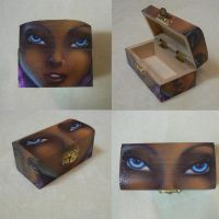 Wood Chest Silvertear close up by Alise-arts
