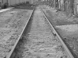 Railroad tracks by Loser-Bunny