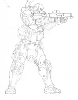 Another Soldier Drawing by TheMuffinKingXxX