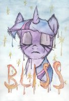 Twilight Sparkle watercolor Bliss painting by BlueCube540