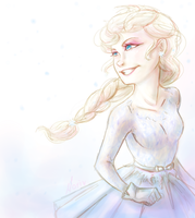 Frozen: That pretty Dress by Morisaurus