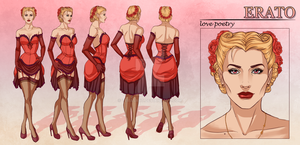 Erato - Character Reference Sheet by tbdoll