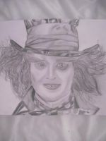 Mad Hatter Drawing by Amy15xx