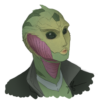 Thane the Drell by NagoshiAshumari