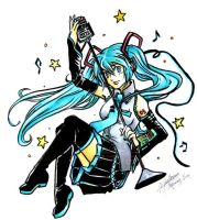 Vocaloid - Miku Collab by olivineteacup