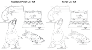Simple Line Art Examples by TCosbyJr