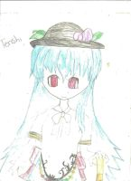 Tenshi from touhou by FrozenFlyingKero