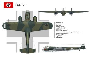 Do-17 KG3 3-View by WS-Clave