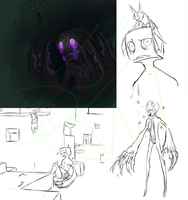 Esper The Blind Enderman Sketchdump by WellHidden