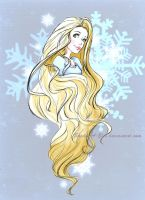 Wintery Rapunzel sketch by sky-illuminated