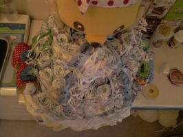Diaper Cake Top View by carmietee