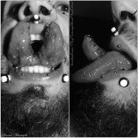 Self tongue split with frenectomy and sutures by TheChristOff