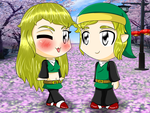 Hylian and Hilly Chibis by HFMR