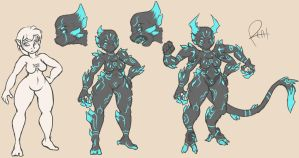 Symbiant Female Concept by pizzacat