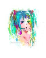 Hatsune Miku 01 by superSaturated