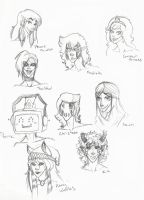 Head Sketches dump 1 by FrostedSouls