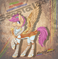 Steampunk Scootaloo by Painted-Hooves