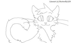 Lineart Female Cat by Butterfly229