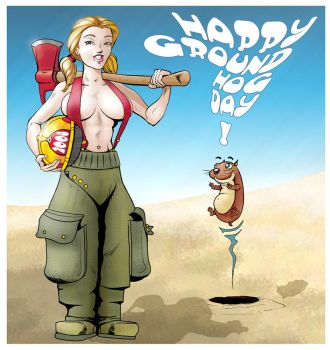 Happy Groundhog Day 2008 by spacecowboy76