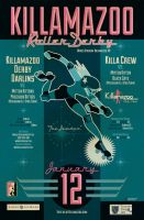 KILLAMAZOO DERBY DARLINS Jan 2013 Poster by PaulSizer