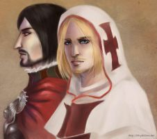 AC - Cesare and Leonardo by himlayan