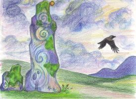 As the Crow Flys by Spiralpathdesigns