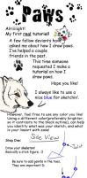 Drawing Paws Tutorial by Mongrelistic