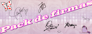 Pack de firmas png by iloveyousofia by iloveyousofiamarenco